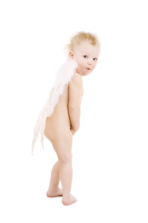 child with wings Stock Photo