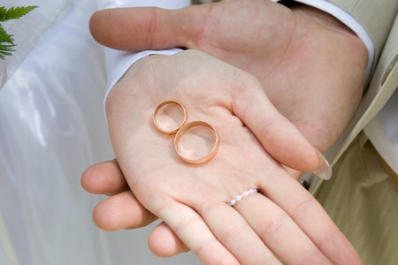 wedding rings on the hand Stock Photo - 4295820