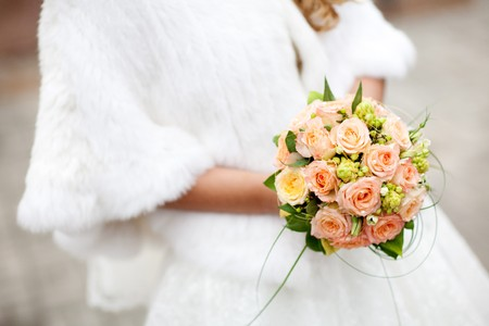 bouquet with roses in the hands of the bride Stock Photo - 4334999
