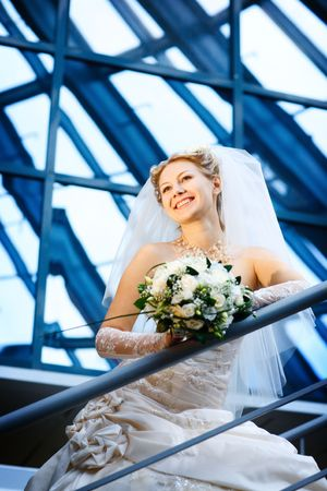 bride under the glass ceiling photo