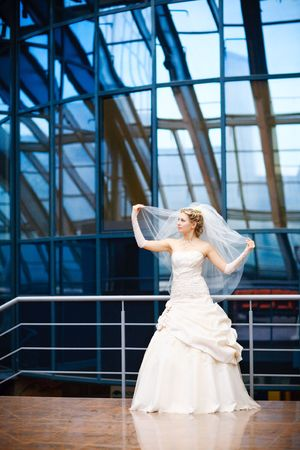 glass ceiling: bride dance under the glass ceiling