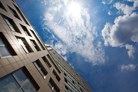 business building and blue sky Stock Photo - 5345429