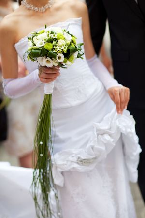bouquet of bride and groom
