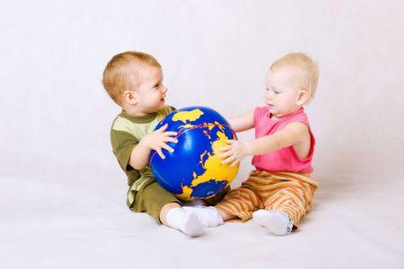 boy and girl with ball