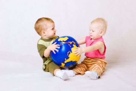boy and girl with ball