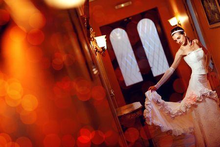 magic dance with a dress Standard-Bild