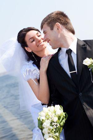 Braut und Bräutigam zusammen Standard-Bild