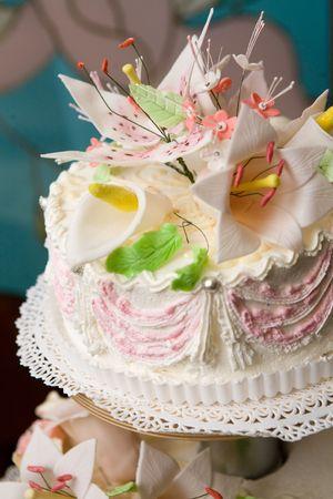 top of the wedding cake photo