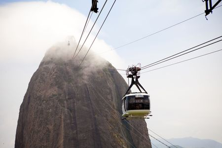 pao: cableway to Pao de Acicar in Brazil