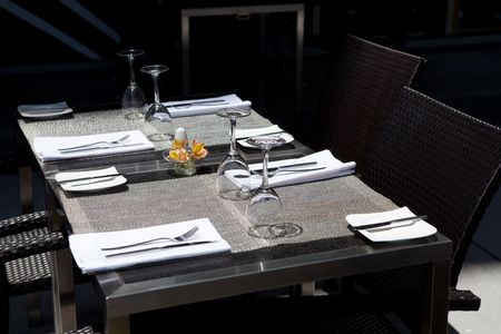 table for meal in the restaurant photo