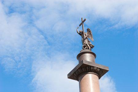 Top of the Alexander Column in Saint-Petersburg photo