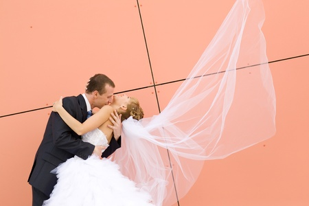 dance of bride and groom photo