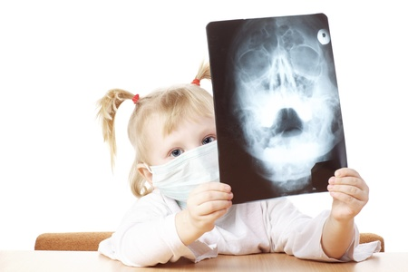 child playing as a doctor with X-ray photograph Stock Photo - 14182092