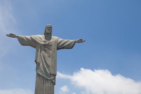 Statue of Cristo in Rio de Janeiro Stock Photo