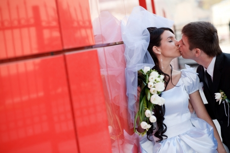 field study: kiss by the red wall