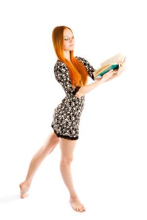 pies bailando: hed pelo ballerine baile con el libro