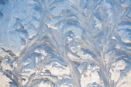 painting on the frozen window by frost - nobody Stock Photo - 16882802