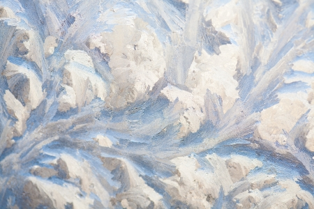painting on the frozen window by frost - nobody Stock Photo - 16882798