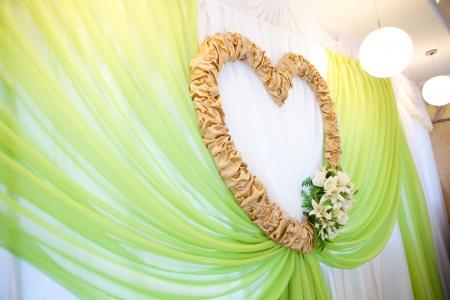 textile decoration as a golden heart