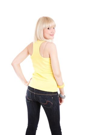 fashion girl by backside photo