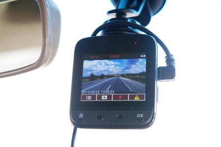 flauta dulce: grabador de vídeo en el interior del coche
