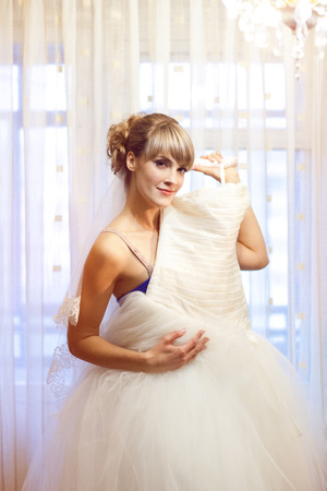 girl with wedding dress