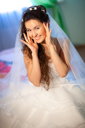 young bride at homer Standard-Bild