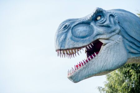 Belarus, Minsk, September 11, Dino Park, amusement park, giant dinosaur model