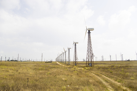obtaining: wind turbines for obtaining green electricity. Protection of the environment