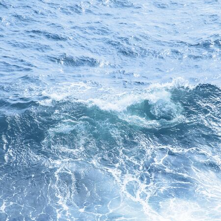 Classic blue sea wave close up. Color of the year 2020 background Stock fotó