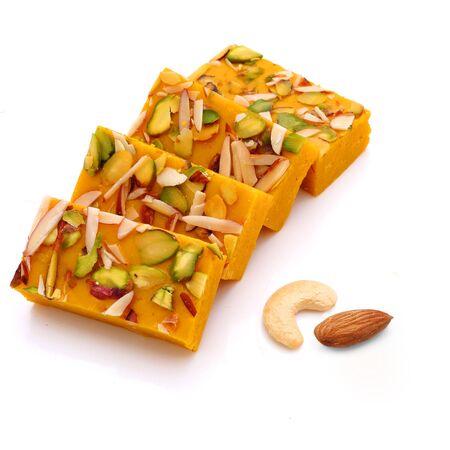 indian Kaju anjeer roll isolated ,Kaju dates roll,indian food