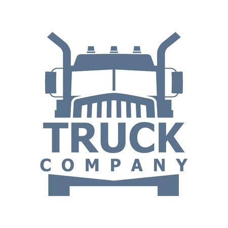 monochrome truck vector logo for delivery company