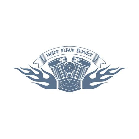 Monochrome vector bikers racing club logo
