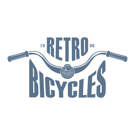Vector monochrome label for bike or scooter club