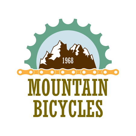 Old-style vector logo for bicycle travel company.