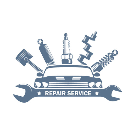 logo usługi garażu monochromatyczne wektor Logo