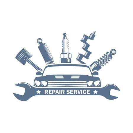 logo de service garage vecteur monochrome