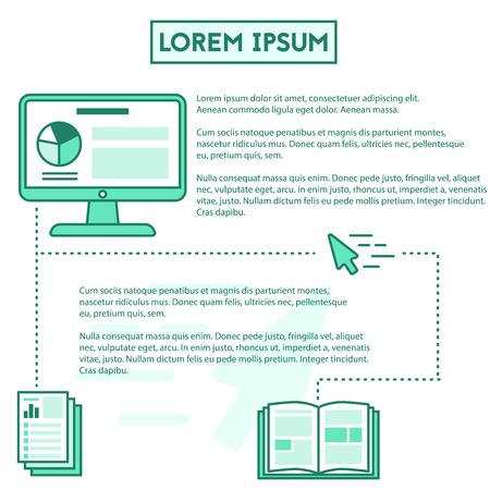 outline vector simple digital courses infographic elements