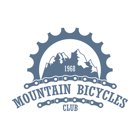 Old style vector logo for bicycle travel company.