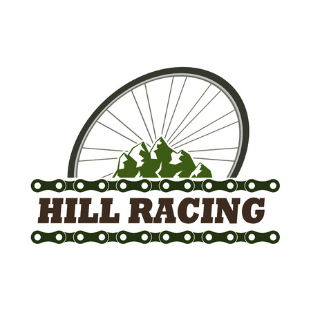 simple vintage vector badges for a mountain racing tourism, retro vintage logos for hill racing extreme park