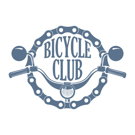 Vector vintage monochrome label for bike or scooter club