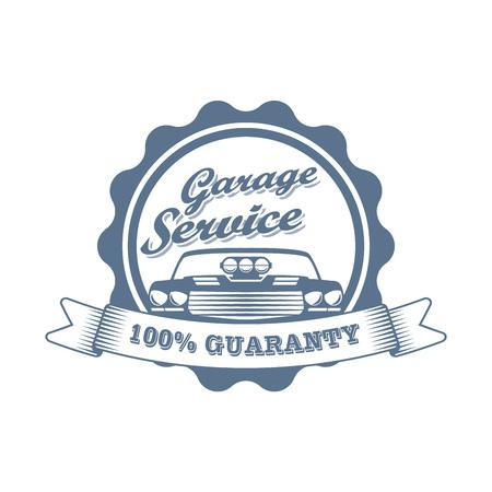 Vector sport repair service badge Ilustrace