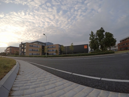 Wide angle street Editorial