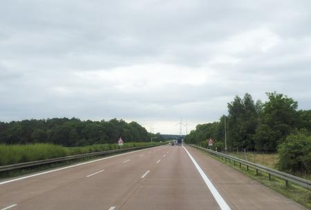 European highway Foto de archivo