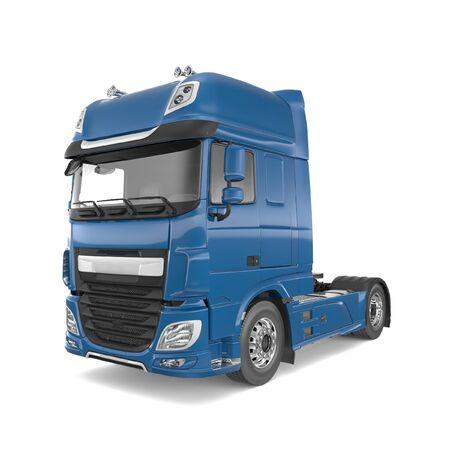 Generic semi truck isolated photorealistic 3D Illustration - front view. Foto de archivo