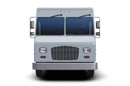 Generic Delivery Step Van Isolated Model - front view
