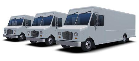 Generic Delivery Step Van Isolated Models Foto de archivo