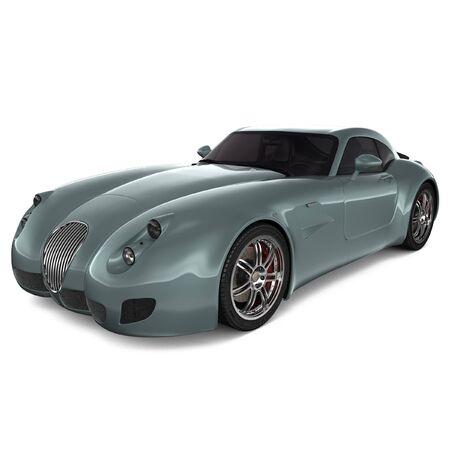 Modello isolato di auto sportiva classica generica - vista frontale