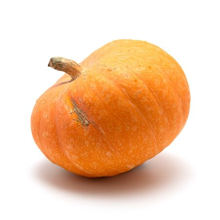 Fresh orange pumpkin isolated on white background Banque d'images