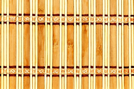 corded: Decorative corded wooden mat may be for background